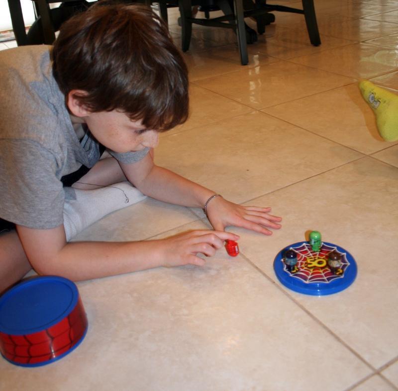 Jason lining Spider-Man up