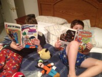 Reading comic books