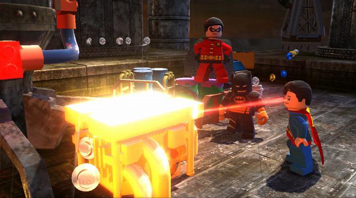 Lego Batman 2 Superman heat vision
