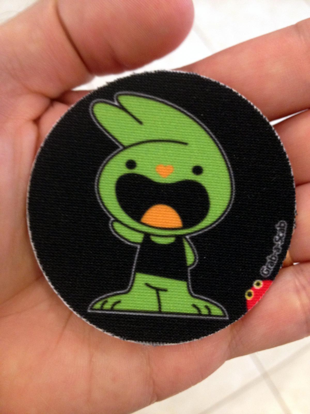 Adorable bunny permanent sticker patch