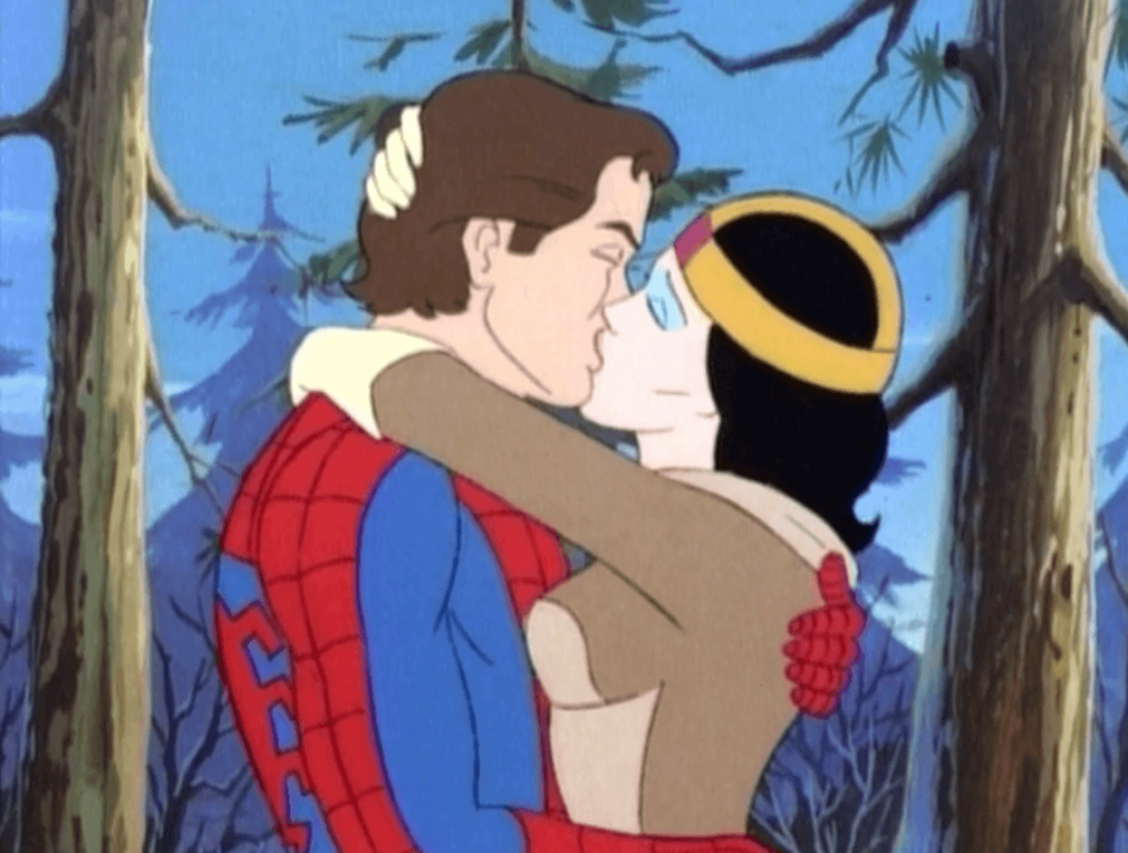 Spider-Man Kissing Woman