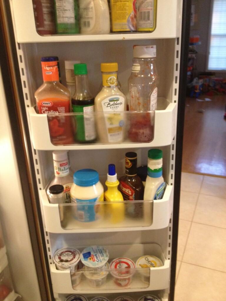 The refrigerator door dressings