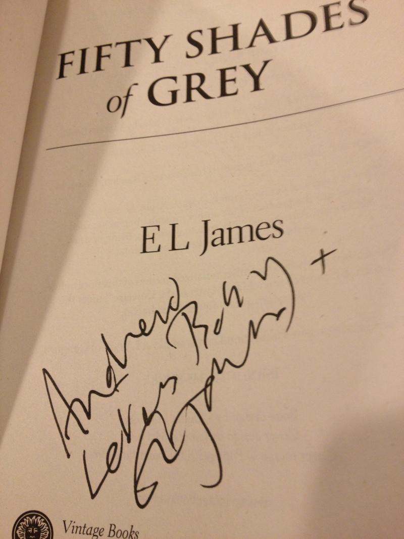 Fifty Shades of Grey autograph