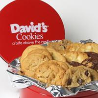 David's Cookies Tin