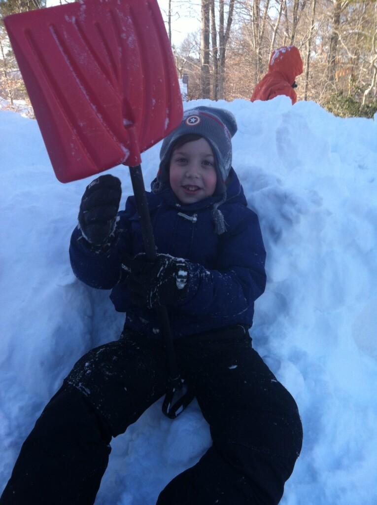 Ryan and shovel