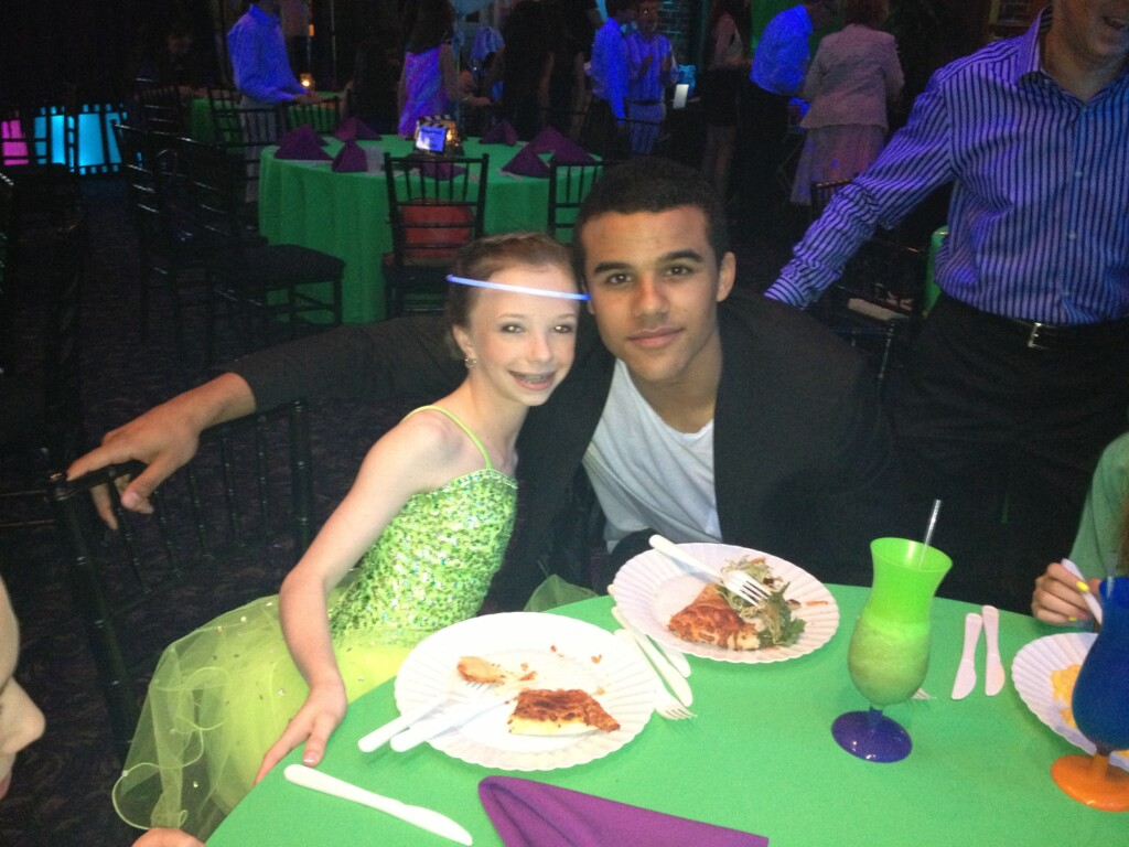Jake Puckerman cozies up to Princess Amanda.