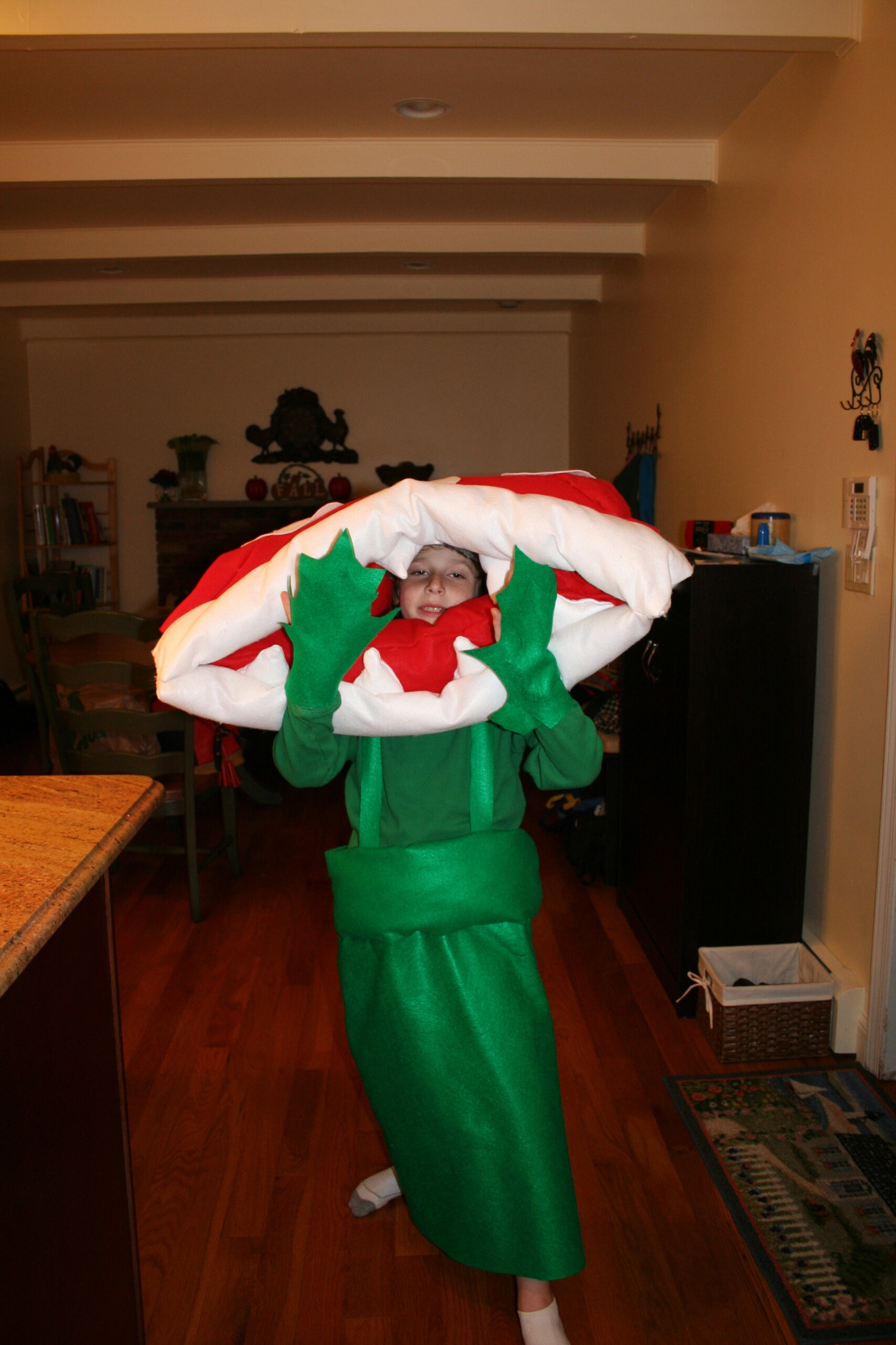 How to Make Your Very Own Super Mario Bros. Piranha Plant Costume