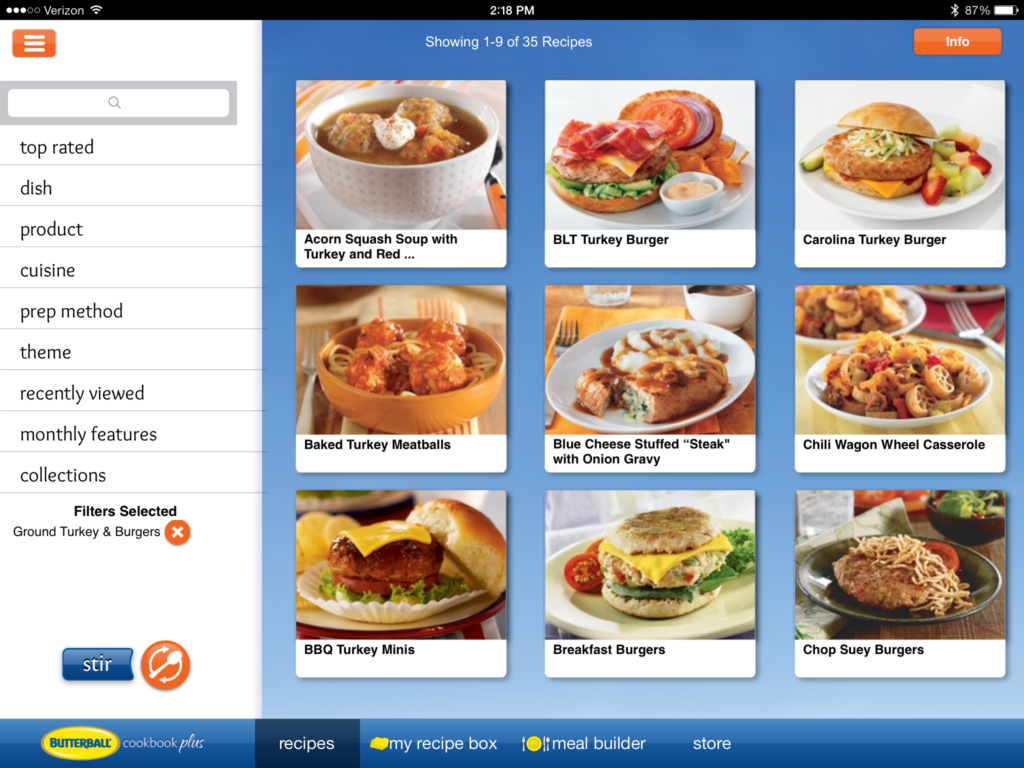Butterball cookbook app