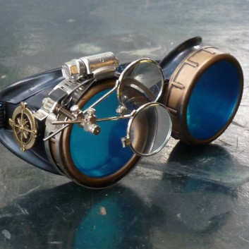 Black-and-Bronze-Steampunk-Goggles-with-Blue-Lenses-353x353