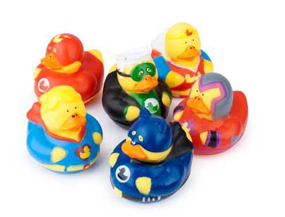 Superhero Rubber Duckie