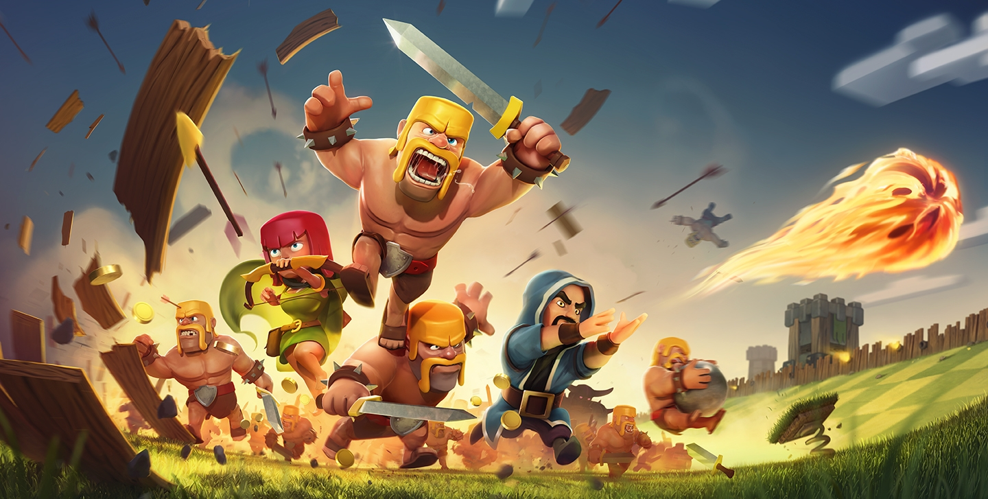 Clash of Clans Title Screen