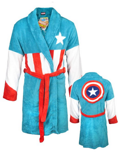 Captain America Fleecy Bathrobe