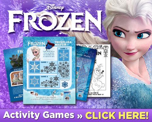 Frozen Activity Sheets