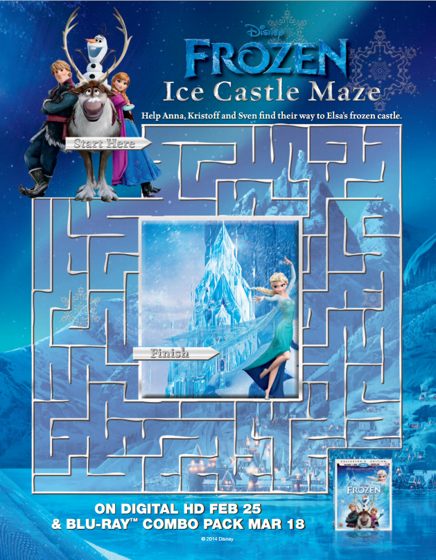 Frozen Coloring Pages and Activity Sheets