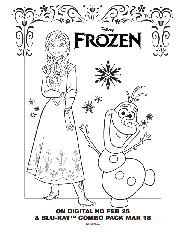 Frozen Coloring Pages and Activity Sheets Mommys Busy Go Ask Daddy