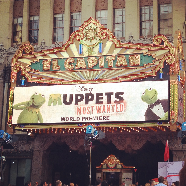 El Capitan Theatre #MuppetsMostWantedEvent