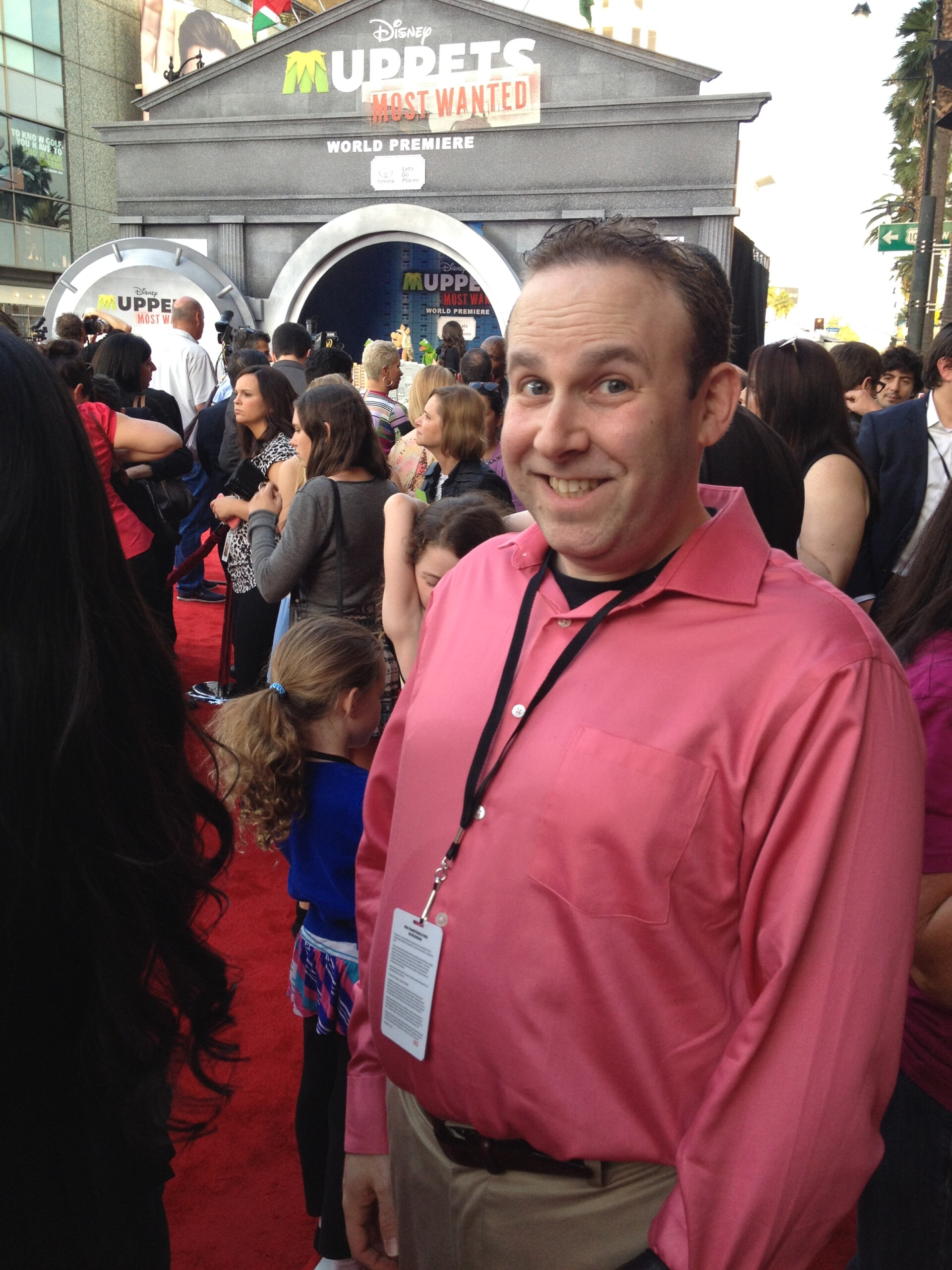 Andrew Kardon Red Carpet #MuppetsMostWantedEvent
