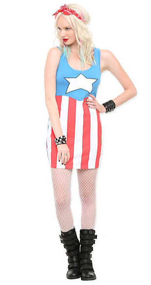 Marvel Captain America Dress   Hot Topic