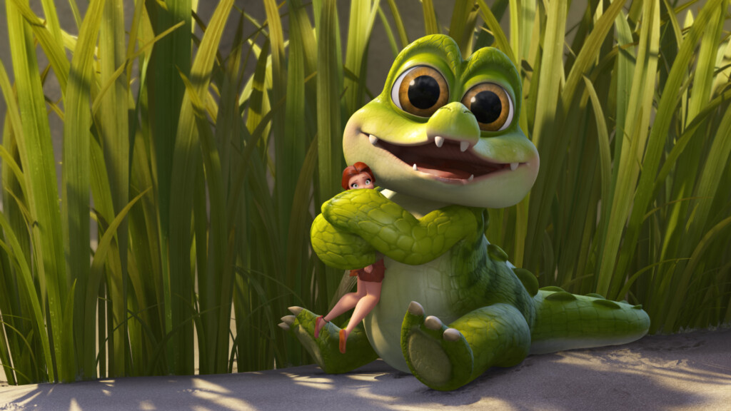 Guess who this cute little croc turns out to be...