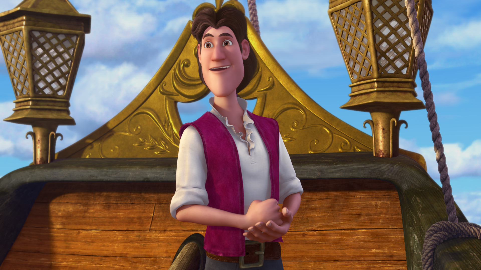 He may become the dreaded Captain Hook, but right now, he's just a nice-looking guy named James.