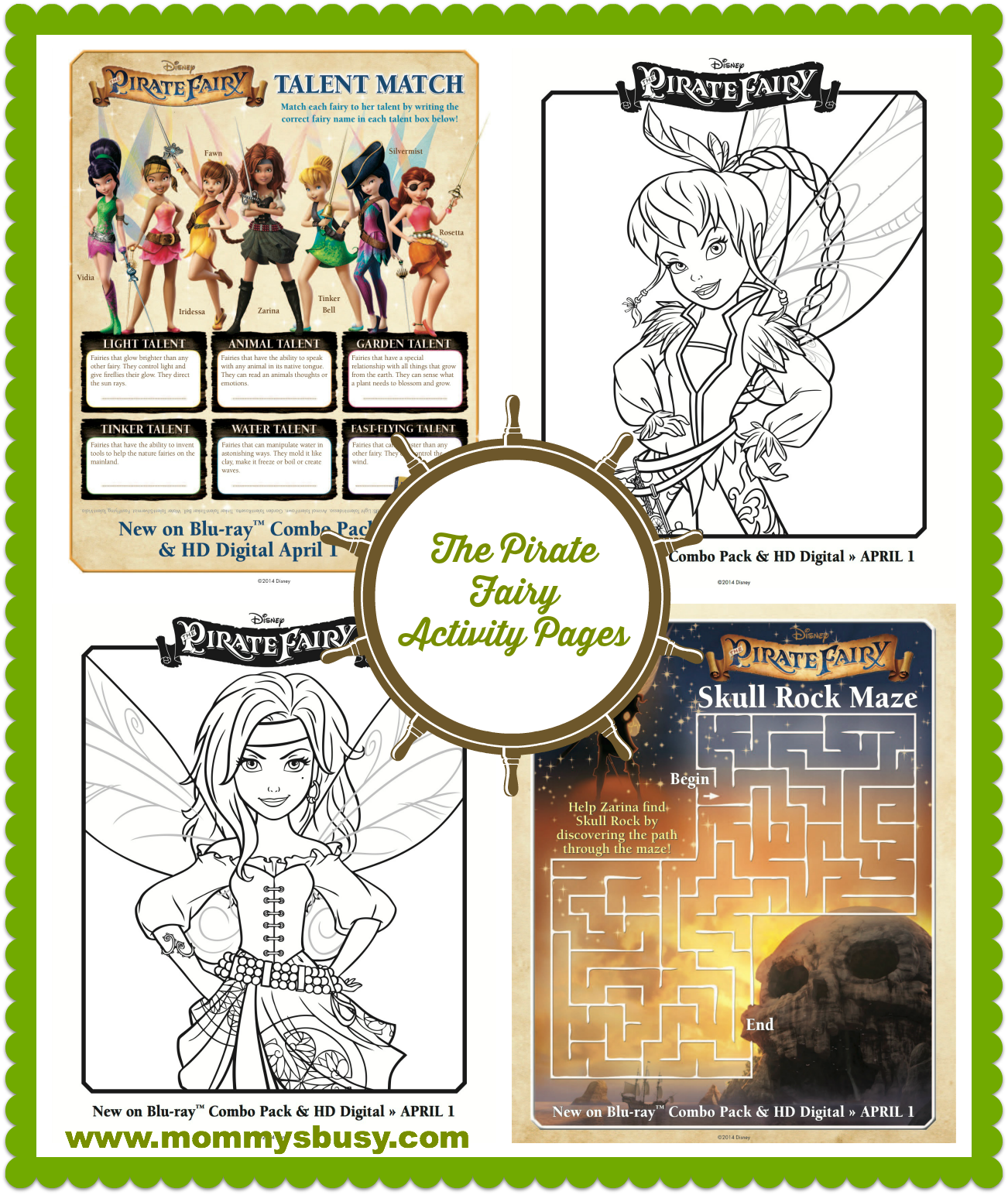 pirate fairy activity pages #PirateFairy