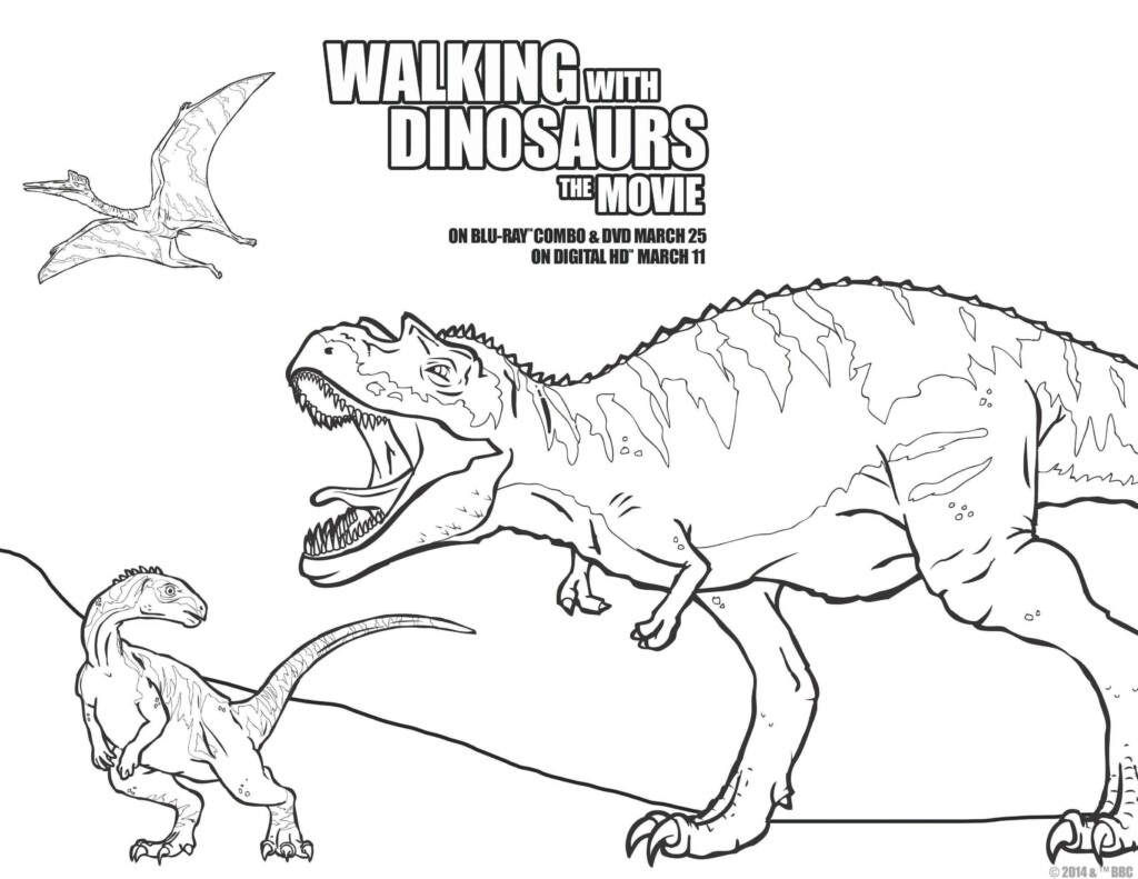 walking with dinosaurs coloring pages - photo #6