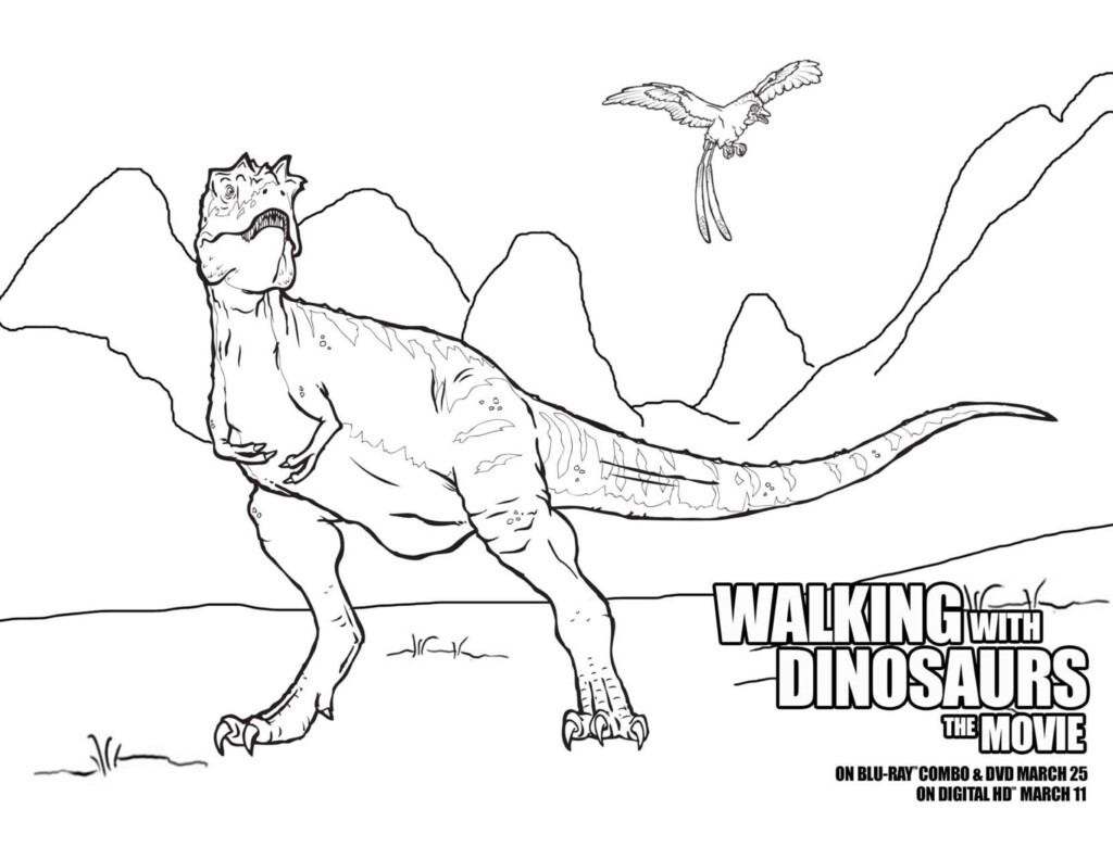walking with dinosaurs coloring pages - photo #4