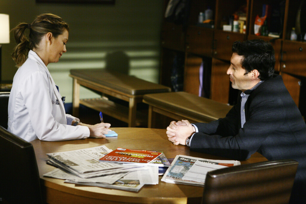 Meredith writes up a very special Post-It Note. Photo: ABC/SCOTT GARFIELD