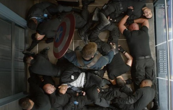Captain America Elevator Fight #CaptainAmericaEvent
