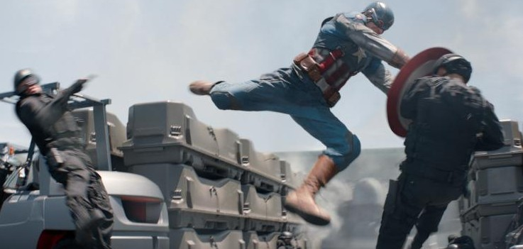 Captain America fighting #CaptainAmericaEvent
