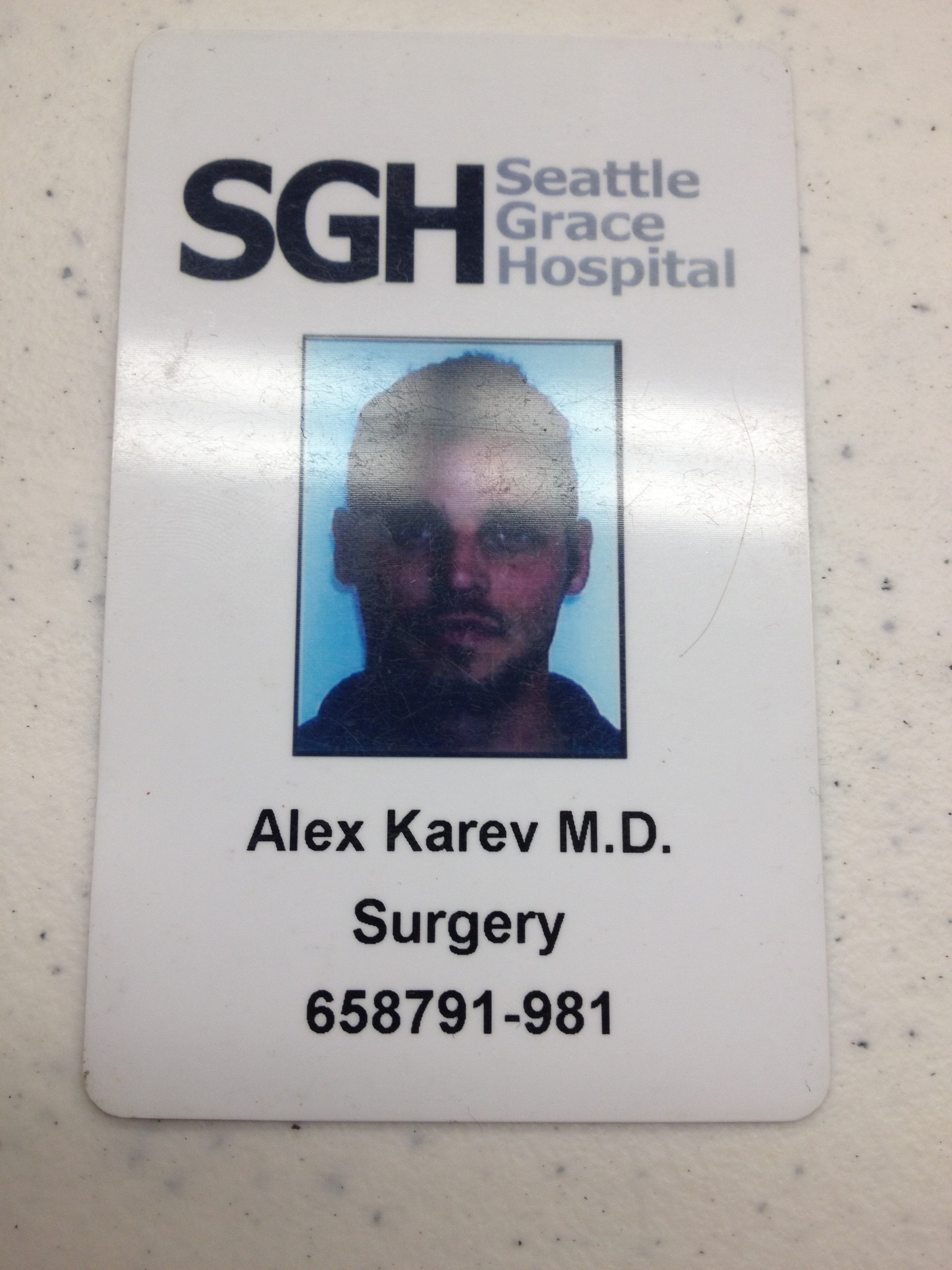 Seattle Grace Badge Alex Karev #ABCTVEvent