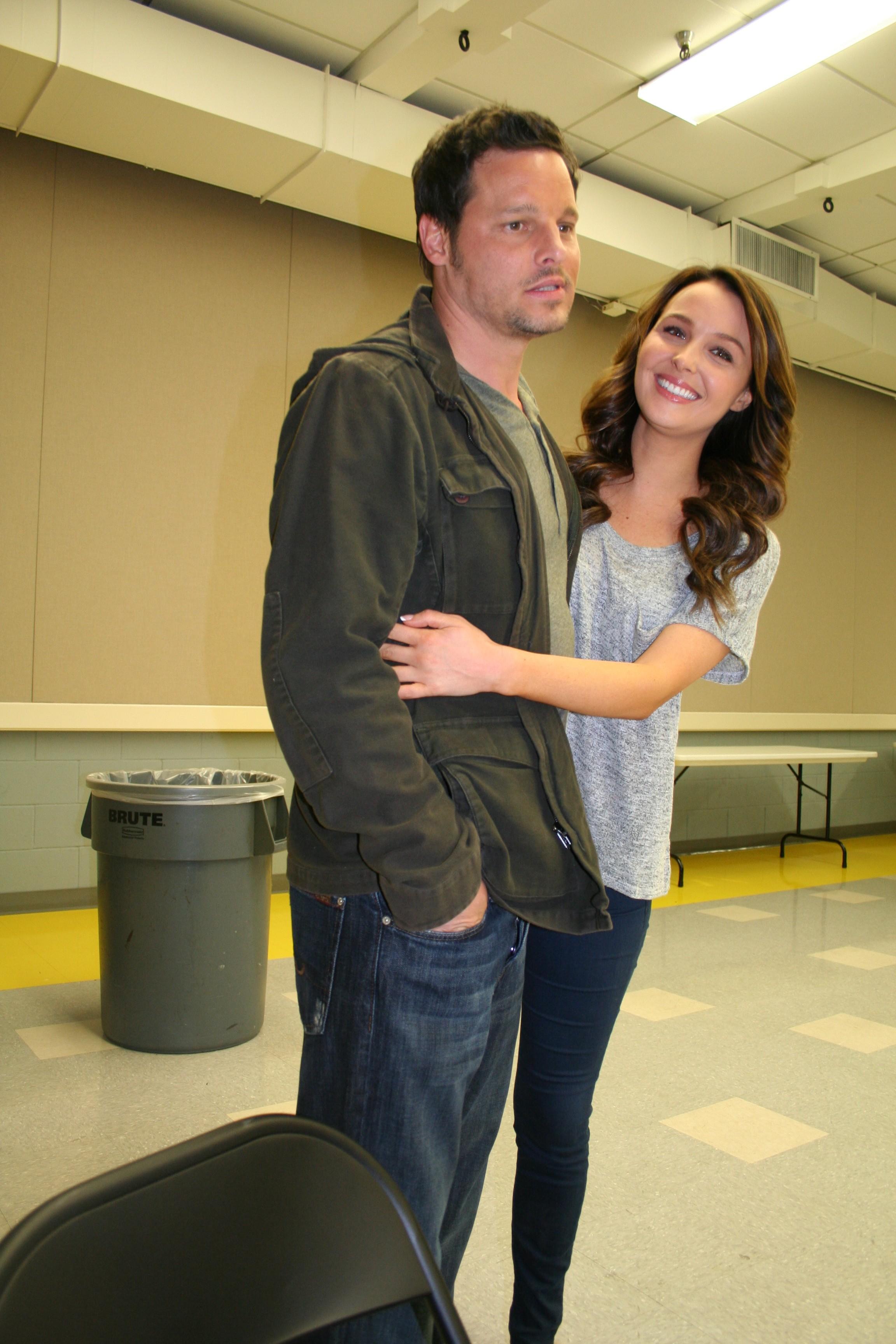 Justin Chambers (Alex Karev and Camilla Luddington (Jo Wilson)