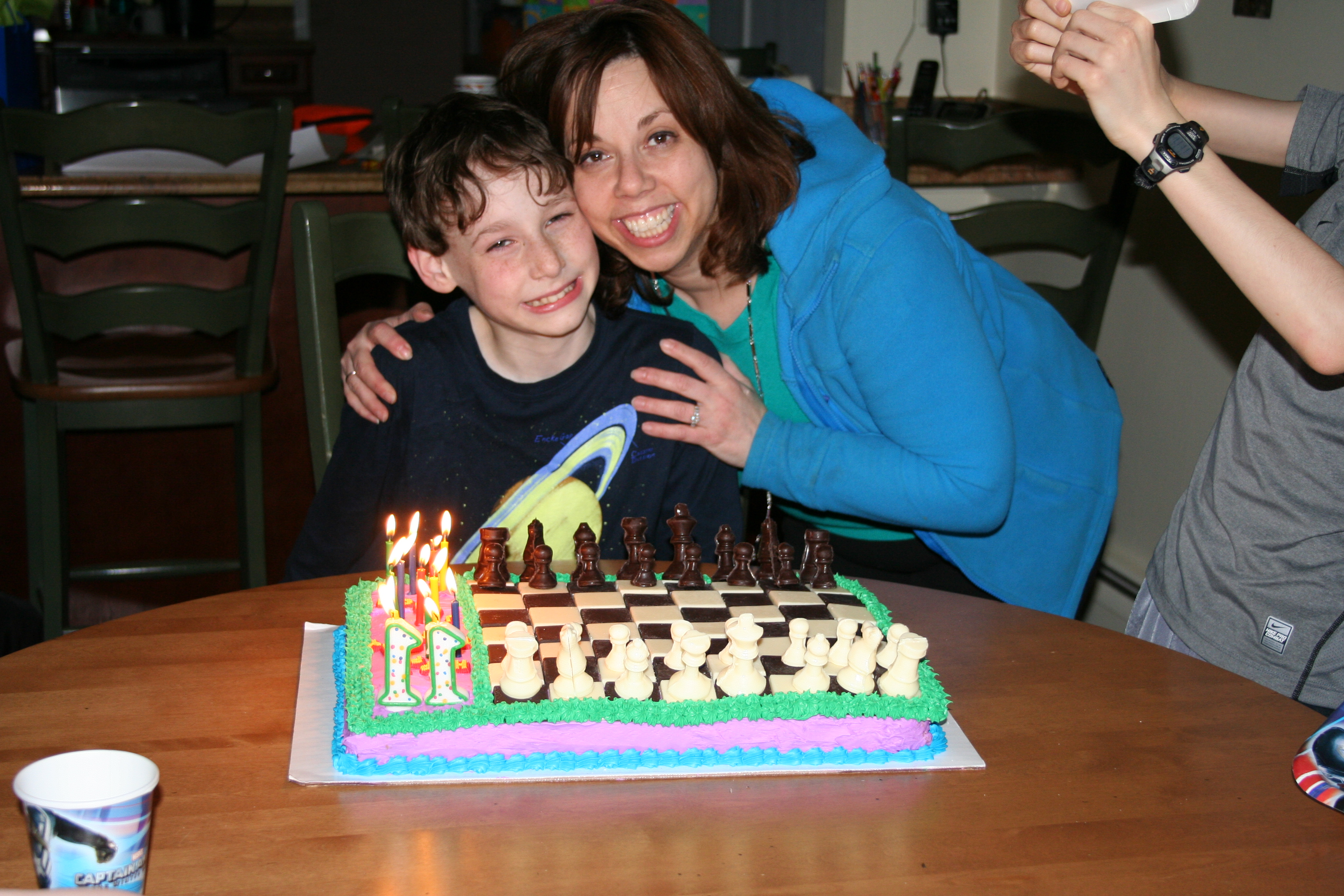 The Cake Queen herself and the Birthday Boy