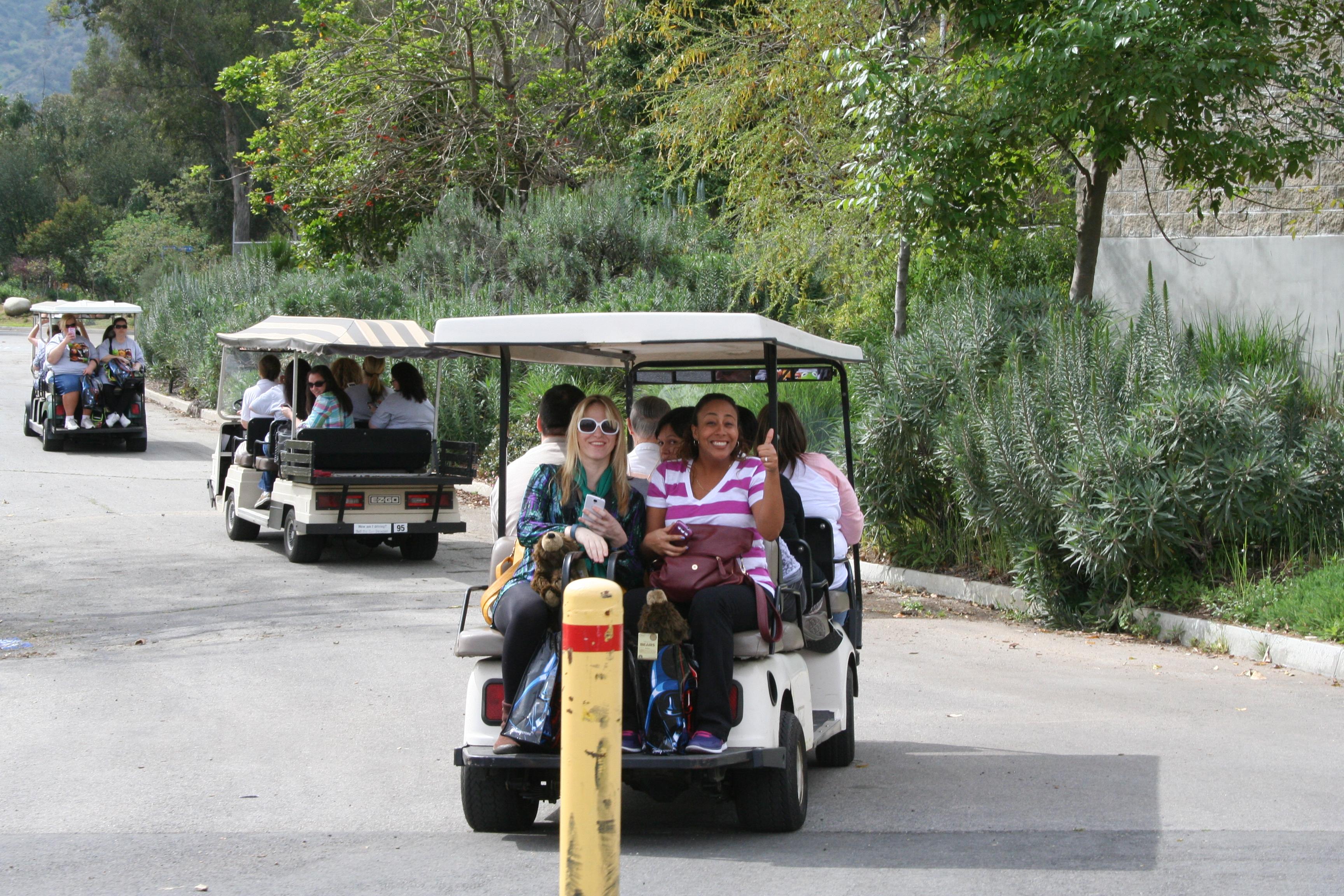 LA Zoo tram