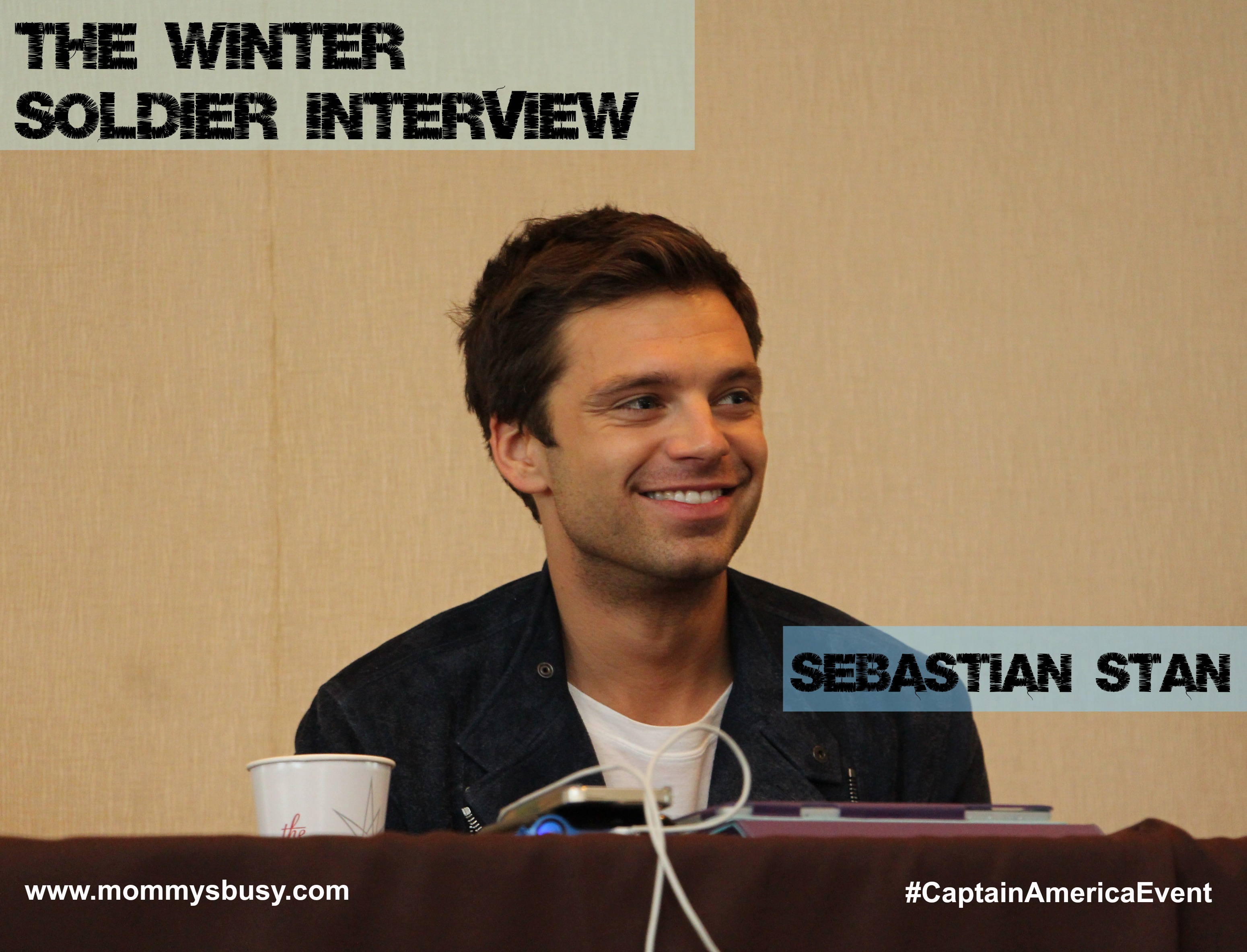 Sebastian Stan interview #CaptainAmericaEvent