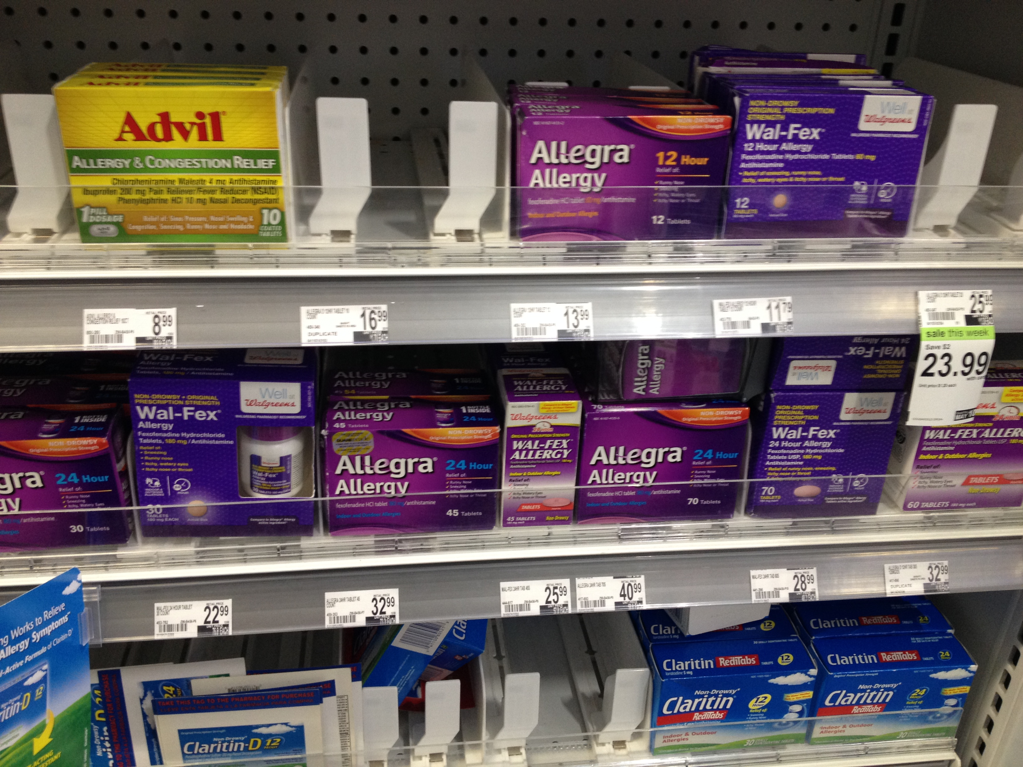 If you've got allergies, Duane Reade apparently has your back. Or, uh, your nose.