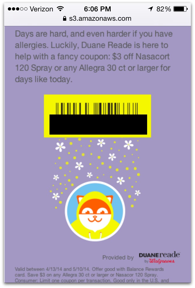 Poncho Coupon