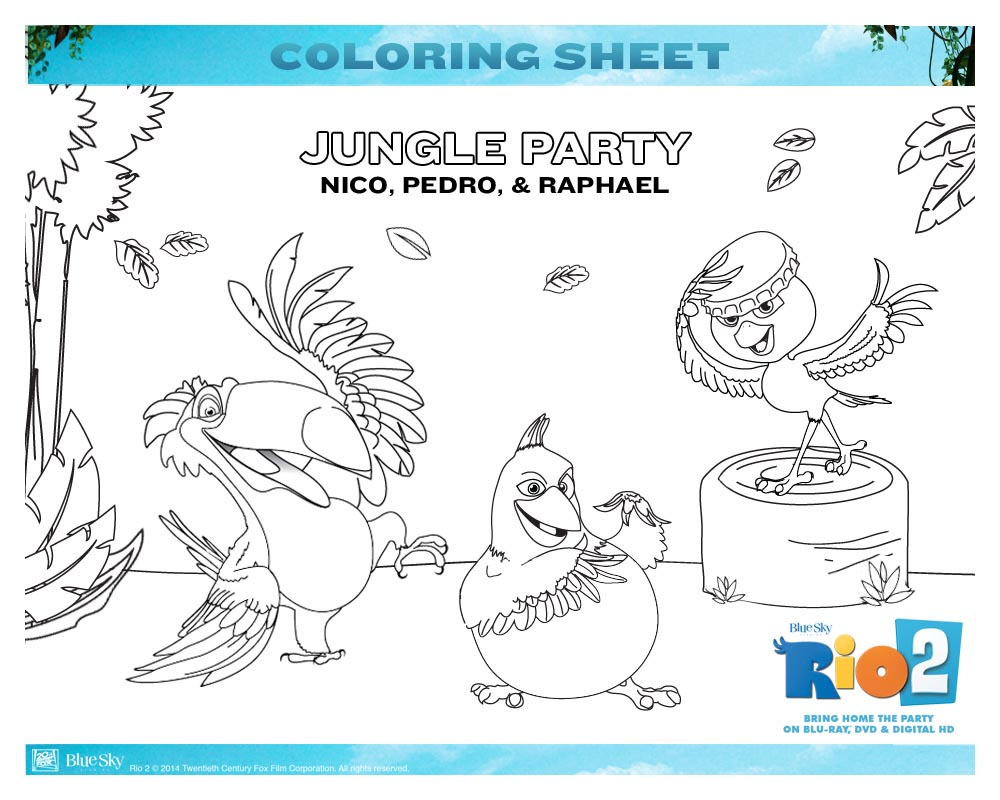 Free Rio 2 Coloring Pages Mommys Busy Go Ask Daddy