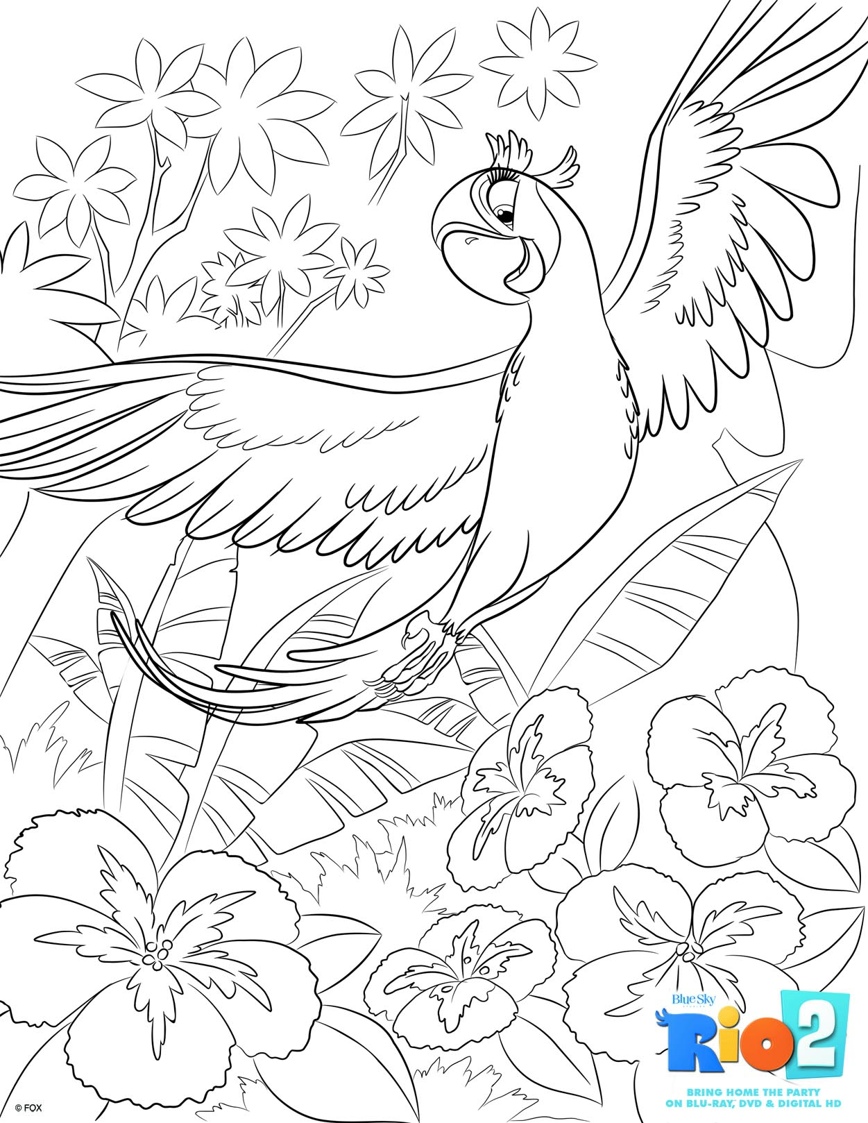free rio 2 coloring pages - Childrens Colouring Pictures 2