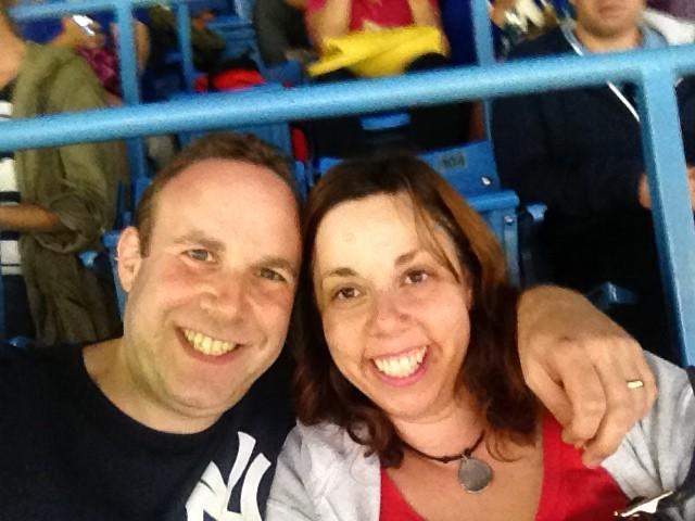 Yankees vs. Blue Jays selfie with my sweetie!
