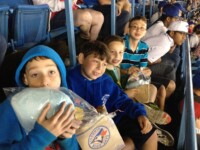Popcorn and cotton candy. The kids are set.