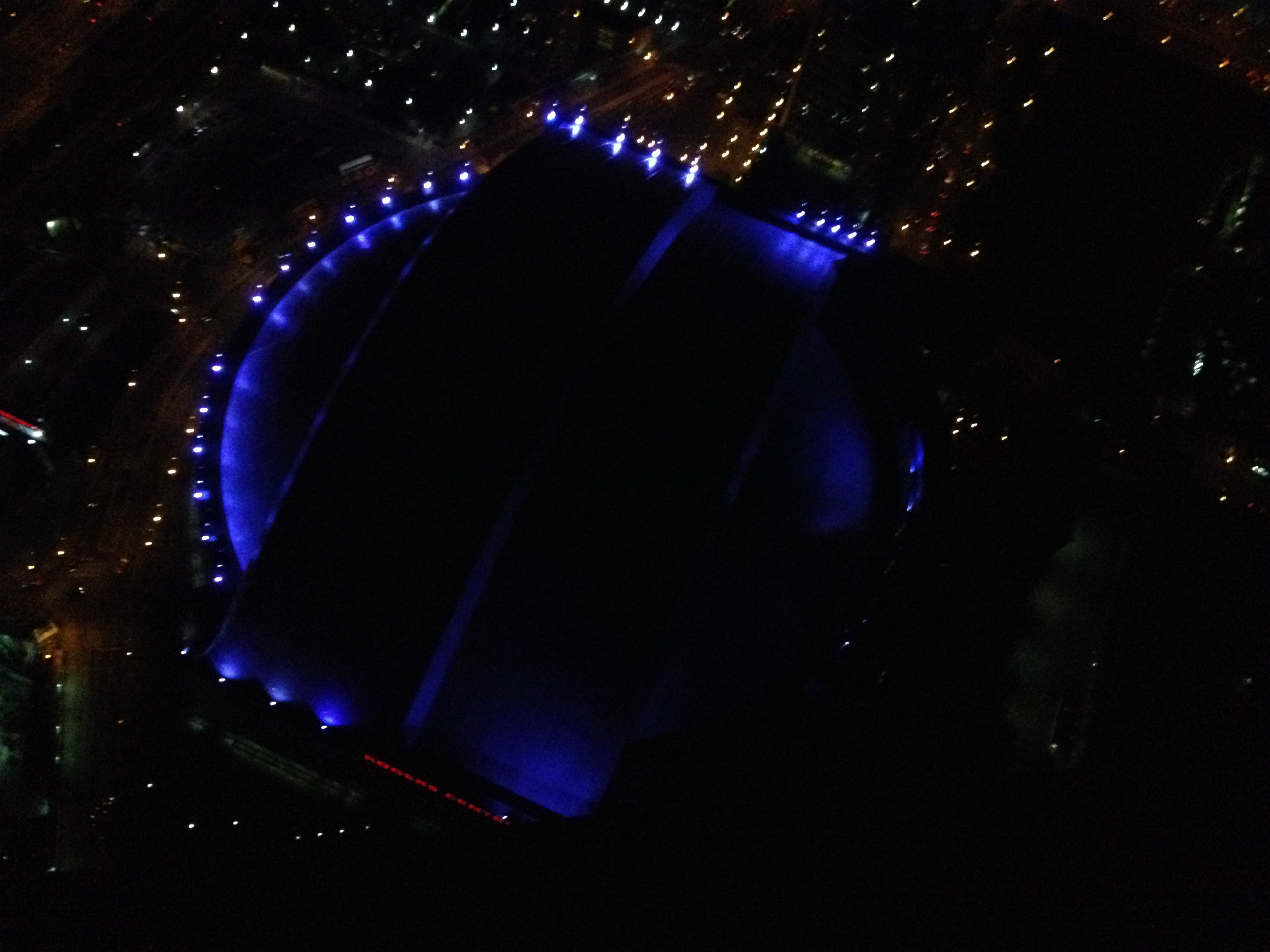 Looking down at the Rogers Centre below!