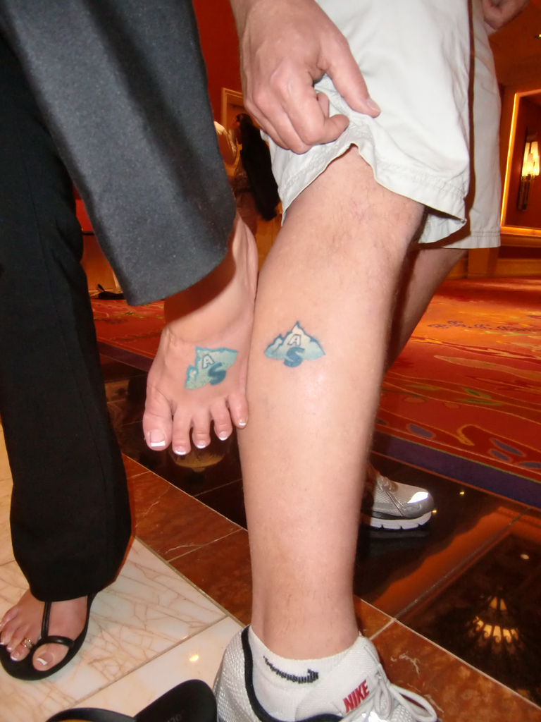 Shawn and Missy's matching Affiliate Summit tattoos.