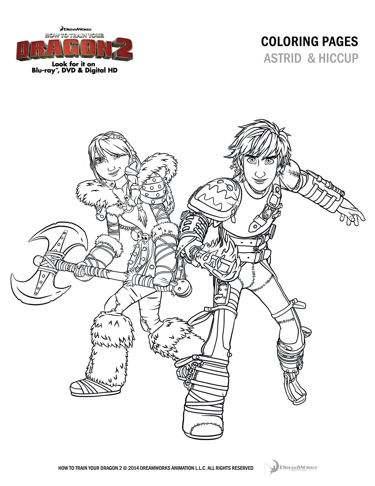 how to train your dragon 2 free coloring and activity pages