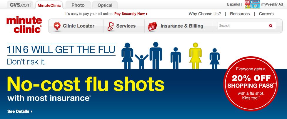 Minute Clinic flu shots