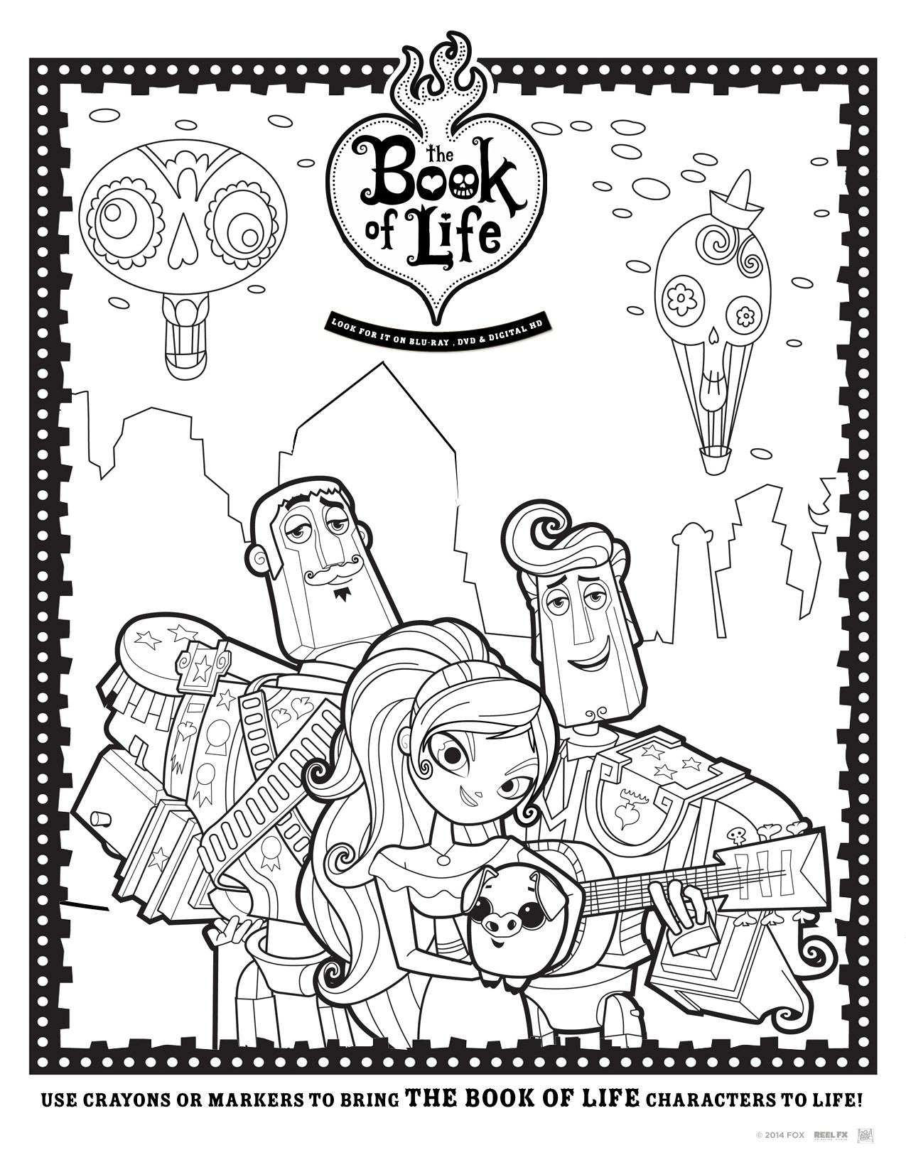 Book of life for coloring - Coloring Sheet 2 Coloring Sheet 1 The Book Of Life