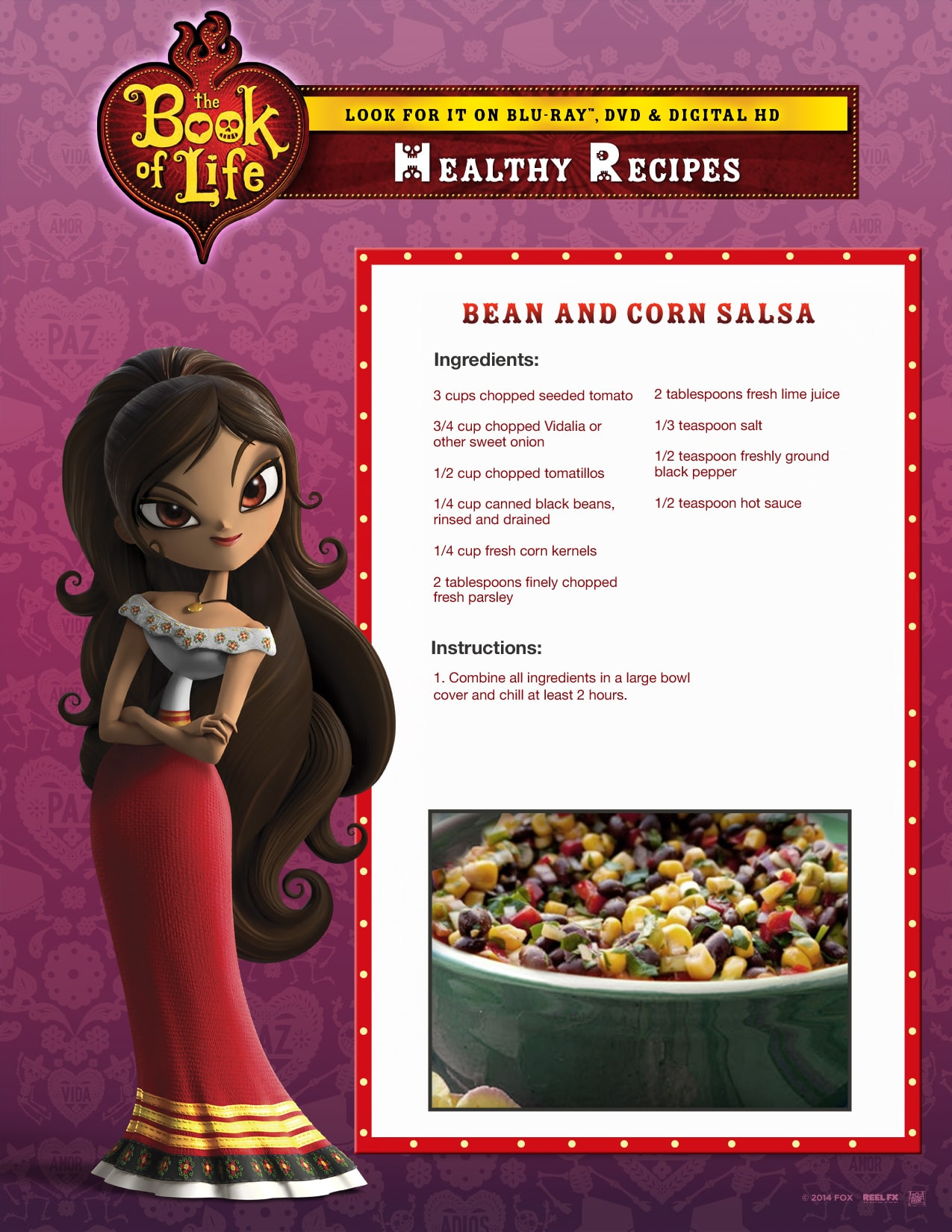 Book of life for coloring - Recipe 1