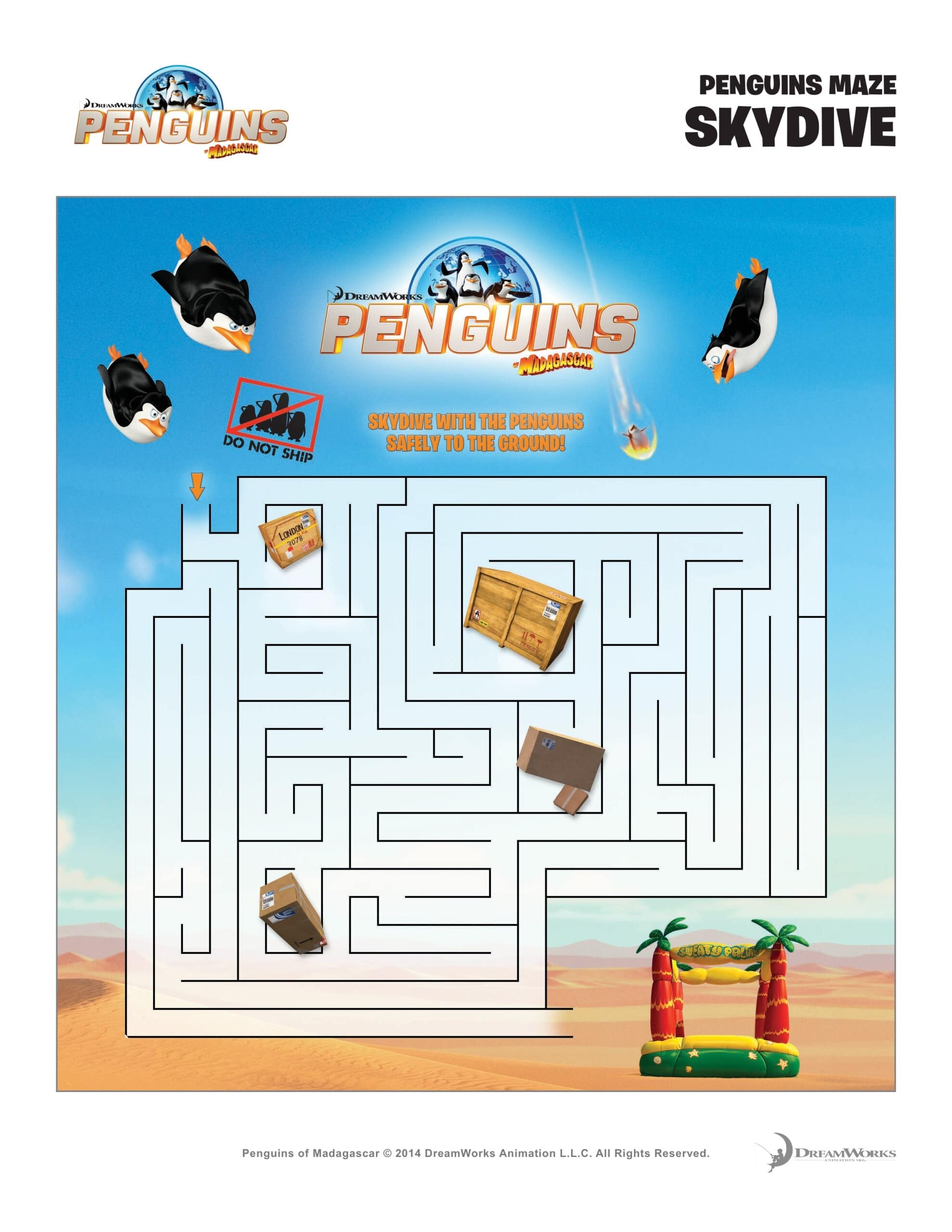 10 Best Free Printable Penguins Of Madagascar Coloring Pages | 2560x1978