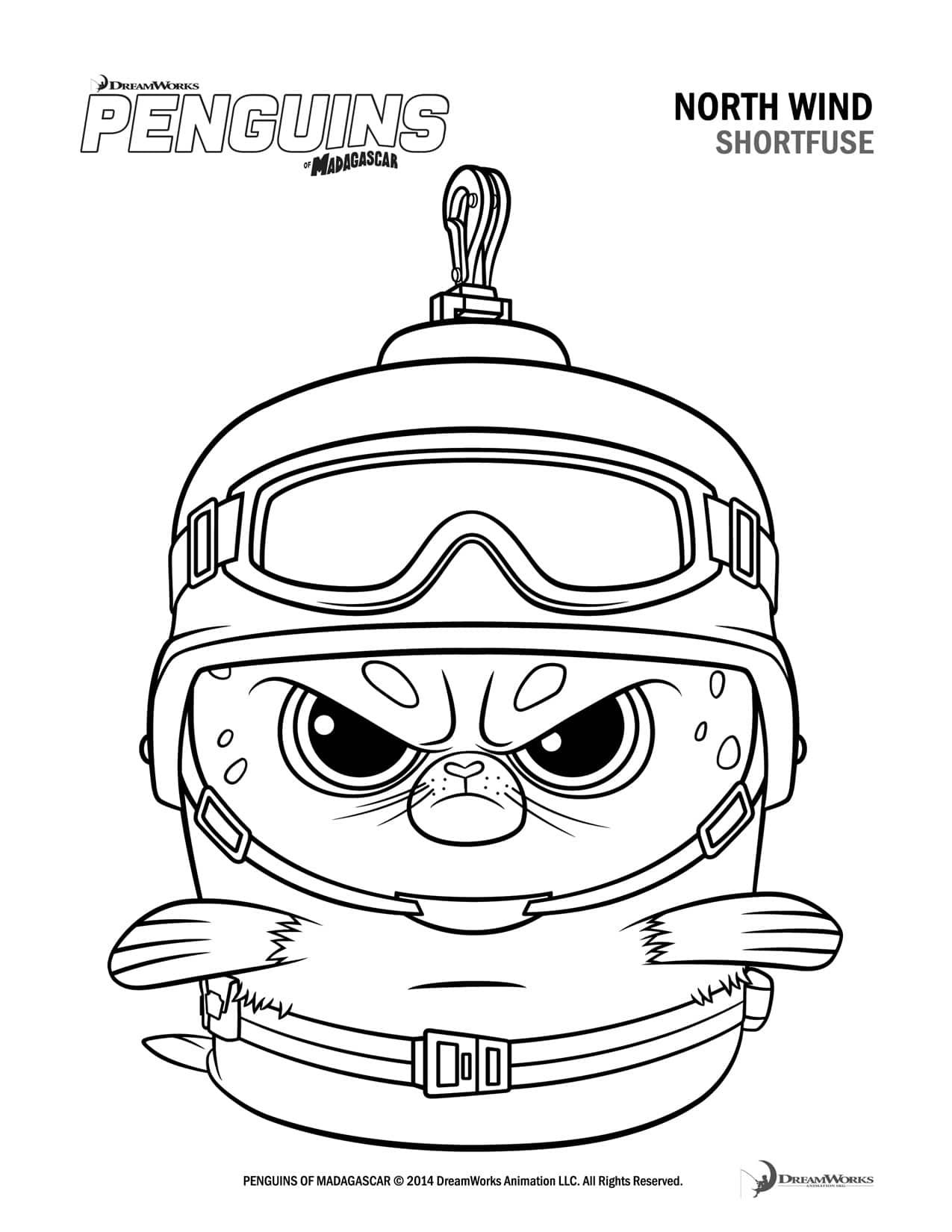 free penguins of madagascar coloring pages and activity sheets
