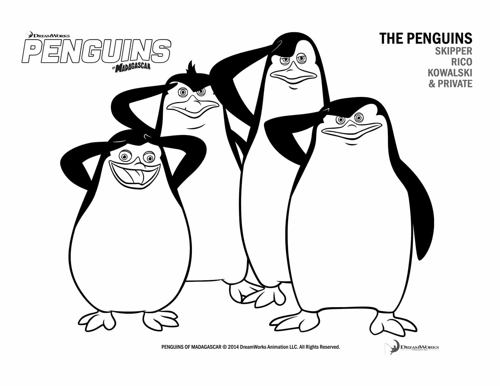 Free Penguins Of Madagascar Coloring Pages And Activity Penguins Of Madagascar Coloring Pages